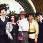 Joan Crawford, Bette Davis, Beverly Garland, Judy Garland, Charlie Chapliin